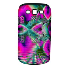 Crystal Flower Garden, Abstract Teal Violet Samsung Galaxy S Iii Classic Hardshell Case (pc+silicone)