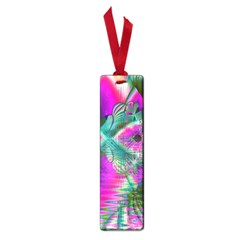 Crystal Flower Garden, Abstract Teal Violet Small Bookmark