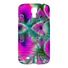Crystal Flower Garden, Abstract Teal Violet Samsung Galaxy S4 I9500/I9505 Hardshell Case