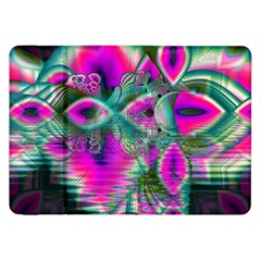 Crystal Flower Garden, Abstract Teal Violet Samsung Galaxy Tab 8 9  P7300 Flip Case