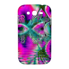 Crystal Flower Garden, Abstract Teal Violet Samsung Galaxy Grand DUOS I9082 Hardshell Case