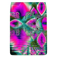Crystal Flower Garden, Abstract Teal Violet Removable Flap Cover (Large)