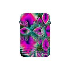 Crystal Flower Garden, Abstract Teal Violet Apple iPad Mini Protective Sleeve