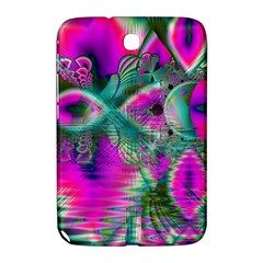 Crystal Flower Garden, Abstract Teal Violet Samsung Galaxy Note 8.0 N5100 Hardshell Case