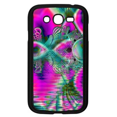 Crystal Flower Garden, Abstract Teal Violet Samsung Galaxy Grand DUOS I9082 Case (Black)