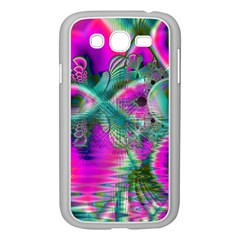 Crystal Flower Garden, Abstract Teal Violet Samsung Galaxy Grand DUOS I9082 Case (White)