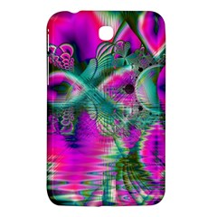 Crystal Flower Garden, Abstract Teal Violet Samsung Galaxy Tab 3 (7 ) P3200 Hardshell Case