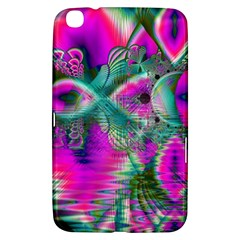 Crystal Flower Garden, Abstract Teal Violet Samsung Galaxy Tab 3 (8 ) T3100 Hardshell Case