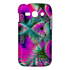Crystal Flower Garden, Abstract Teal Violet Samsung Galaxy Ace 3 S7272 Hardshell Case
