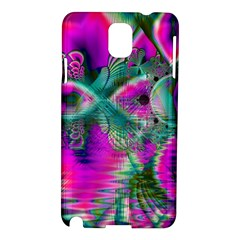 Crystal Flower Garden, Abstract Teal Violet Samsung Galaxy Note 3 N9005 Hardshell Case
