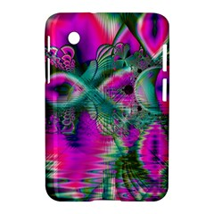 Crystal Flower Garden, Abstract Teal Violet Samsung Galaxy Tab 2 (7 ) P3100 Hardshell Case