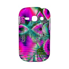 Crystal Flower Garden, Abstract Teal Violet Samsung Galaxy S6810 Hardshell Case