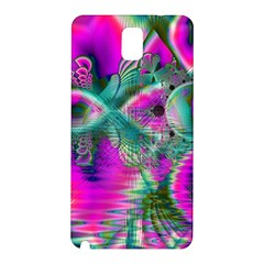 Crystal Flower Garden, Abstract Teal Violet Samsung Galaxy Note 3 N9005 Hardshell Back Case