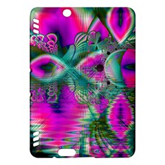 Crystal Flower Garden, Abstract Teal Violet Kindle Fire HDX 7  Hardshell Case