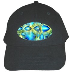Crystal Lime Turquoise Heart Of Love, Abstract Black Baseball Cap