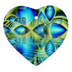 Crystal Lime Turquoise Heart Of Love, Abstract Heart Ornament