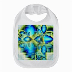 Crystal Lime Turquoise Heart Of Love, Abstract Bib
