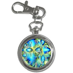 Crystal Lime Turquoise Heart Of Love, Abstract Key Chain Watch