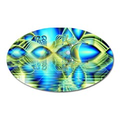 Crystal Lime Turquoise Heart Of Love, Abstract Magnet (Oval)