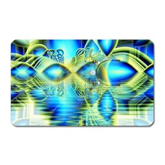 Crystal Lime Turquoise Heart Of Love, Abstract Magnet (Rectangular)