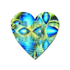 Crystal Lime Turquoise Heart Of Love, Abstract Magnet (Heart)