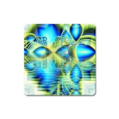 Crystal Lime Turquoise Heart Of Love, Abstract Magnet (Square)