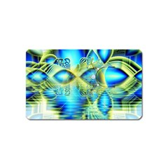 Crystal Lime Turquoise Heart Of Love, Abstract Magnet (Name Card)