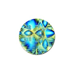 Crystal Lime Turquoise Heart Of Love, Abstract Golf Ball Marker