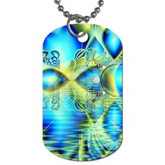 Crystal Lime Turquoise Heart Of Love, Abstract Dog Tag (Two-sided)