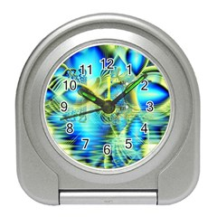 Crystal Lime Turquoise Heart Of Love, Abstract Desk Alarm Clock