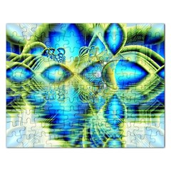 Crystal Lime Turquoise Heart Of Love, Abstract Jigsaw Puzzle (Rectangle)