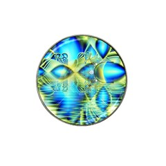 Crystal Lime Turquoise Heart Of Love, Abstract Golf Ball Marker (for Hat Clip)