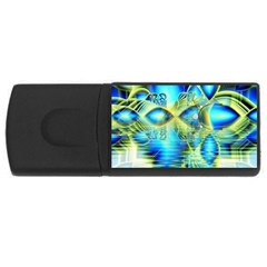 Crystal Lime Turquoise Heart Of Love, Abstract 4GB USB Flash Drive (Rectangle)