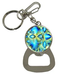 Crystal Lime Turquoise Heart Of Love, Abstract Bottle Opener Key Chain
