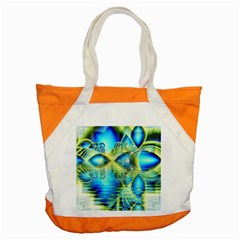 Crystal Lime Turquoise Heart Of Love, Abstract Accent Tote Bag