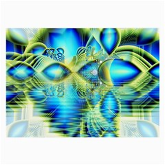Crystal Lime Turquoise Heart Of Love, Abstract Glasses Cloth (Large)