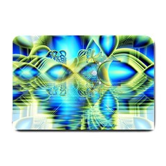 Crystal Lime Turquoise Heart Of Love, Abstract Small Door Mat