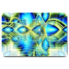 Crystal Lime Turquoise Heart Of Love, Abstract Large Door Mat
