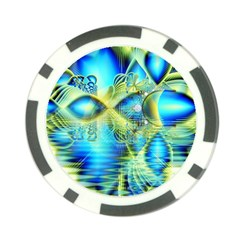 Crystal Lime Turquoise Heart Of Love, Abstract Poker Chip
