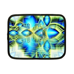 Crystal Lime Turquoise Heart Of Love, Abstract Netbook Sleeve (small)