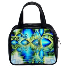 Crystal Lime Turquoise Heart Of Love, Abstract Classic Handbag (two Sides)