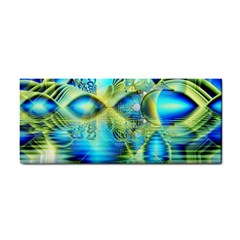 Crystal Lime Turquoise Heart Of Love, Abstract Hand Towel