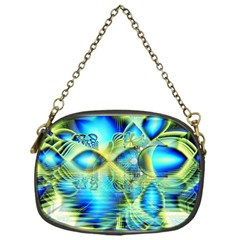 Crystal Lime Turquoise Heart Of Love, Abstract Chain Purse (One Side)