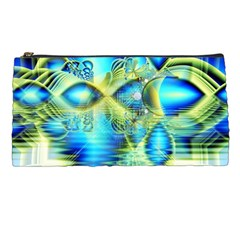 Crystal Lime Turquoise Heart Of Love, Abstract Pencil Case