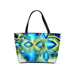 Crystal Lime Turquoise Heart Of Love, Abstract Large Shoulder Bag