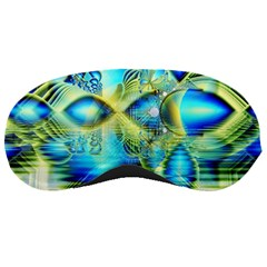 Crystal Lime Turquoise Heart Of Love, Abstract Sleeping Mask