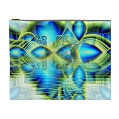 Crystal Lime Turquoise Heart Of Love, Abstract Cosmetic Bag (XL)