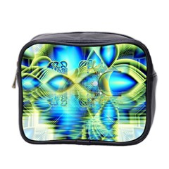 Crystal Lime Turquoise Heart Of Love, Abstract Mini Travel Toiletry Bag (two Sides)