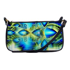 Crystal Lime Turquoise Heart Of Love, Abstract Evening Bag