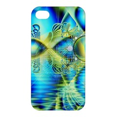 Crystal Lime Turquoise Heart Of Love, Abstract Apple iPhone 4/4S Hardshell Case